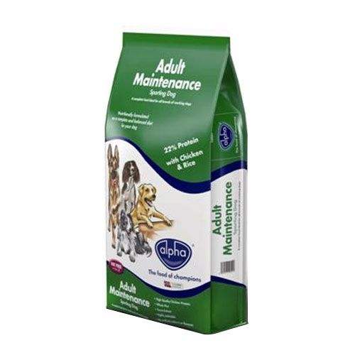 Alpha Adult Maintenance Chicken & Rice Sporting Dry Dog Food  15Kg