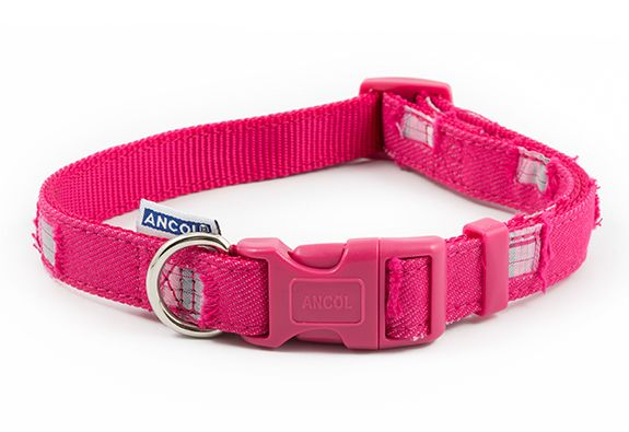 Ancol Patchwork Pink Dog Collar