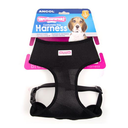 Comfortable Dog Harness Black