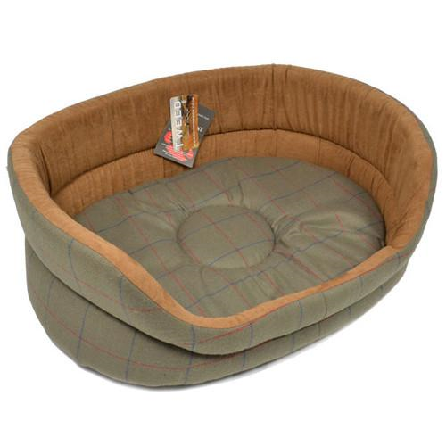 Danish Designs Green Tweed Slumber Dog Bed