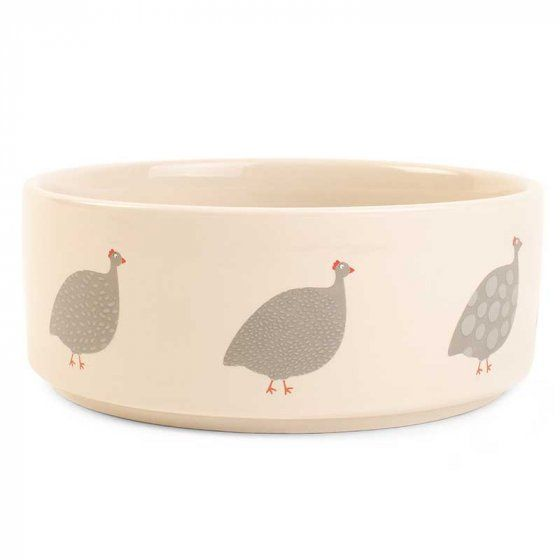 Feathered Friends Ceramic Dog Bowl by Zoon