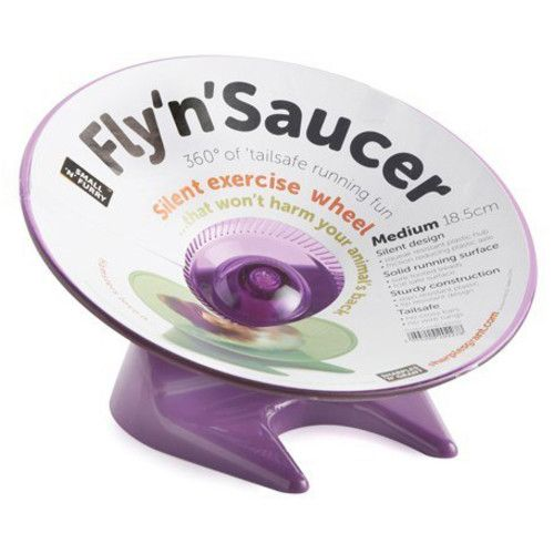 Fly 'n' Saucer Small Animal Exercise  Wheel