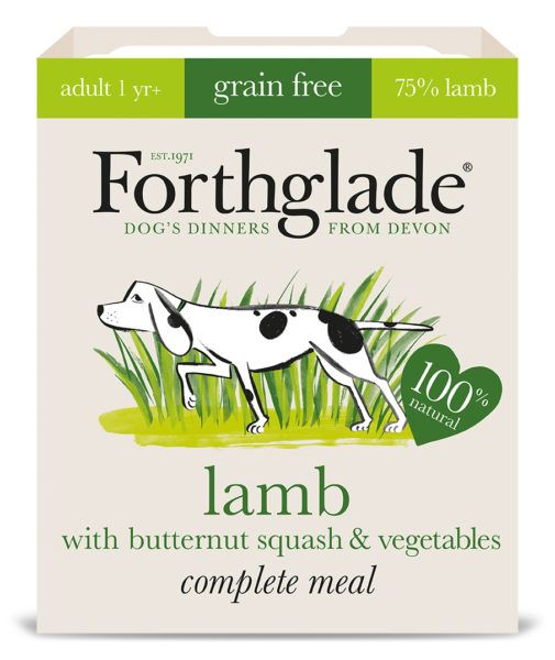 Forthglade Lamb With Butternut Squash & Vegetables 395g Dog Wet Food Tray