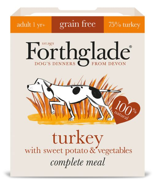 Forthglade Turkey With Potato & Vegetables 395g Dog Wet Food Tray