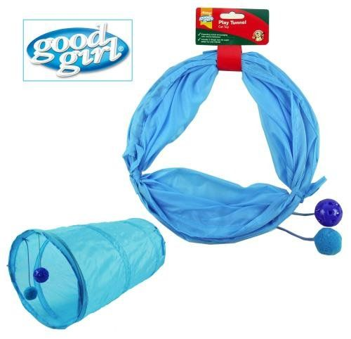 Good Girl Cat Play Tunnel Blue