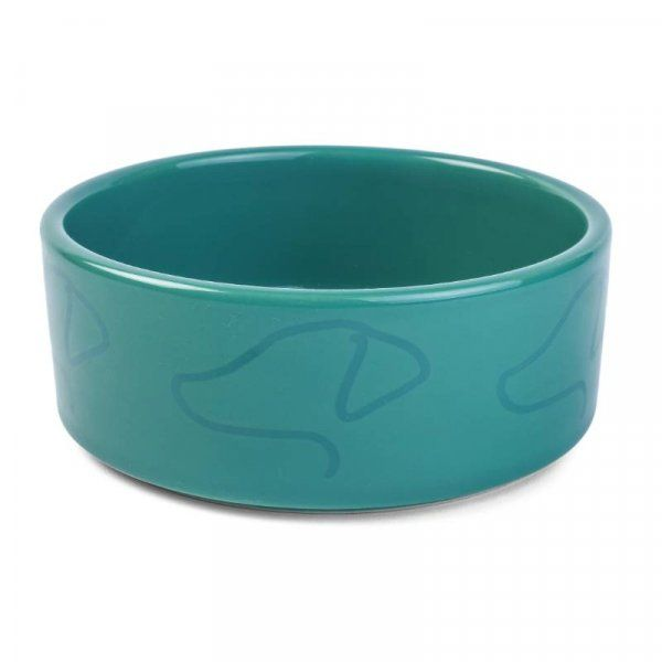 Green Ceramic Dog Bowl by Zoon