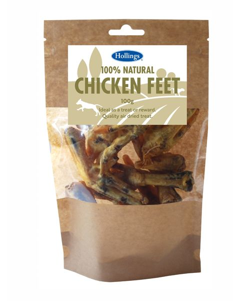 Hollings 100% Natural Chicken Feet 100g