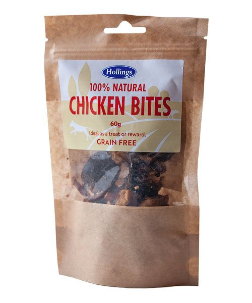 Hollings 100% Natural Grain Free Chicken Bites 60g