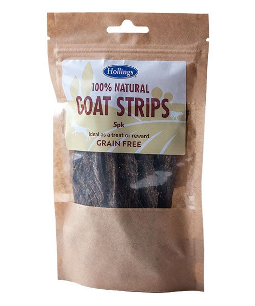 Hollings 100% Natural Grain Free Goat Strips 5 Pack