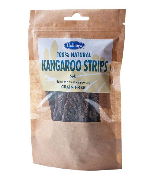 Hollings 100% Natural Grain Free Kangaroo Strips 5 Pack