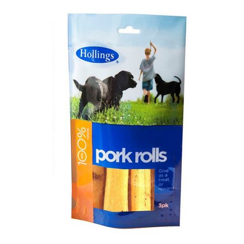 Hollings 100% Pork Rolls Dog Treat