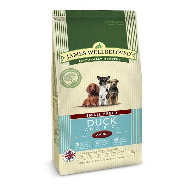 James Wellbeloved Small Breed Adult Duck & Rice Dry Dog Food