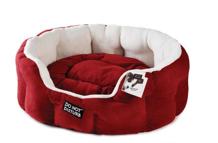 Luxury Red Small Pet Oval Bed
