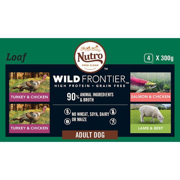 Nutro Ancestral Dog Adult Trays Mixed 4pk