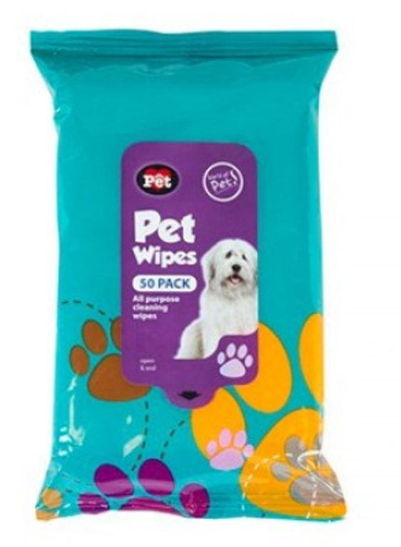 Pet Wipes - 50 Pack
