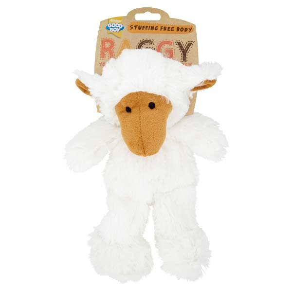 Raggy Lamb Soft Stuffing Free Dog Toy