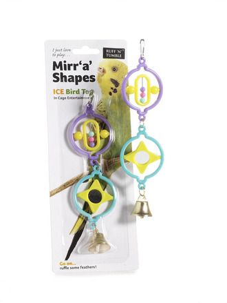 Ruff 'N' Tumble Mirr 'A' Shapes Bird Toy