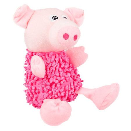 Shagg'y' Pig Dog Toy