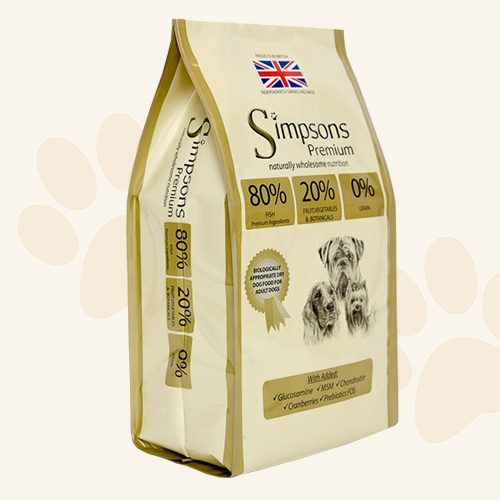 Simpsons Premium Adult 80/20 Mixed Fish  Dry Dog Food