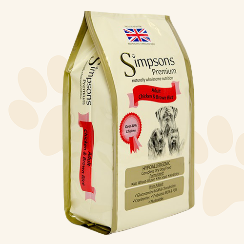 Simpsons Premium  Adult Chicken & Brown Rice Dry Dog Food