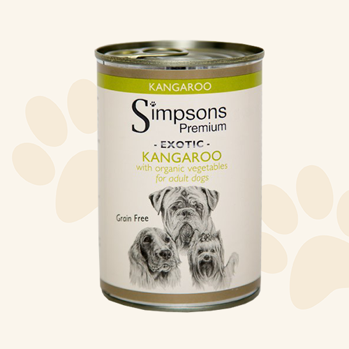 Simpsons Premium Kangaroo Casserole with Organic Vegetables Wet Dog Food