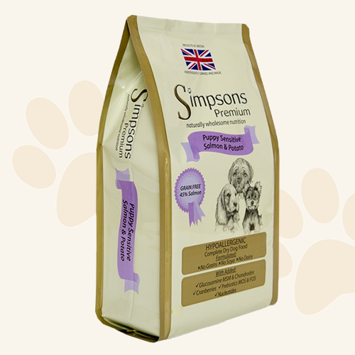 Simpsons Premium Puppy Sensitive Salmon & Potato Dry Dog Food