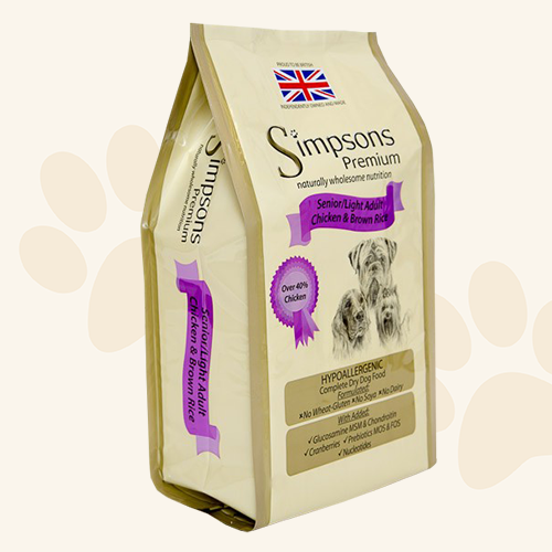 Simpsons Premium Senior/Light Chicken & Brown Rice  Dry Dog Food