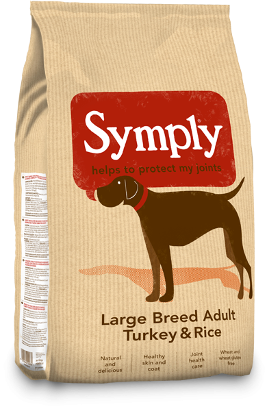 Symply Adult Large Breed Turkey and Rice Dry Dog Food