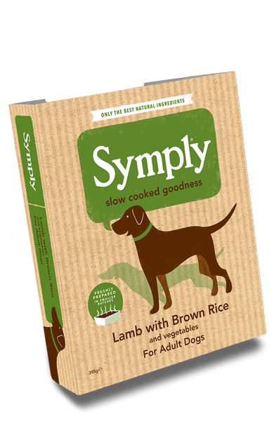 Symply Lamb with Brown Rice for Adult Dogs 395g Wet Trays