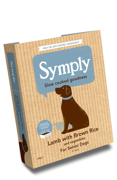 Symply Lamb with Brown Rice for Senior Dogs 395g Wet Trays