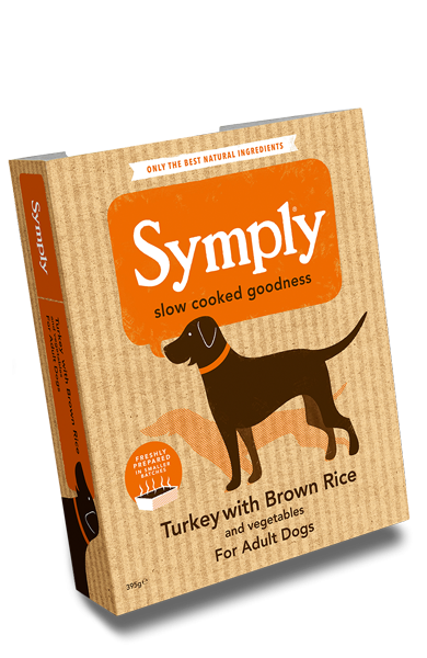 Symply Turkey & Brown Rice for Adult Dogs 395g Wet Trays