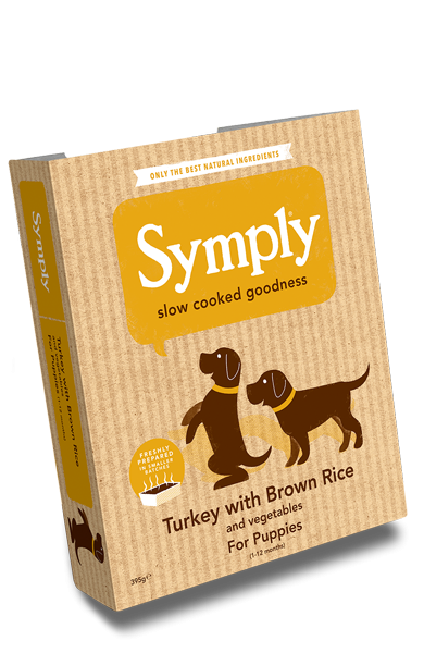 Symply Turkey & Brown Rice for Puppies 395g Wet Trays