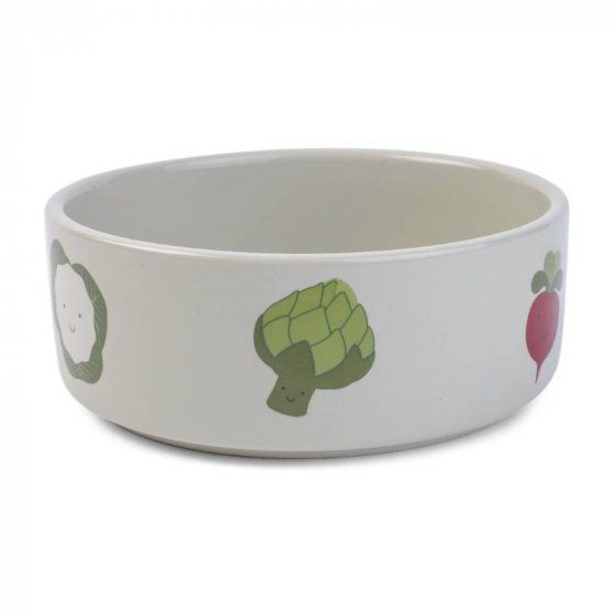 Veggie Ceramic Dog Bowl by Zoon